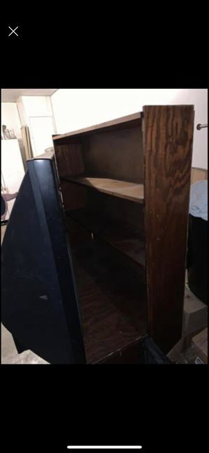 Handmade wooden shelf with toy box/storage on bottom for Sale in Converse, TX