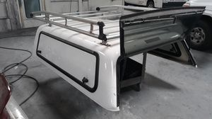 ARE camper shell with Alurack ladder rack for Sale in Hayward, CA