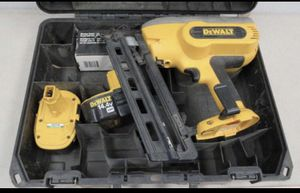 Dewalt nail gun with 2 batteries and charger 16 g for Sale in Reynoldsburg, OH
