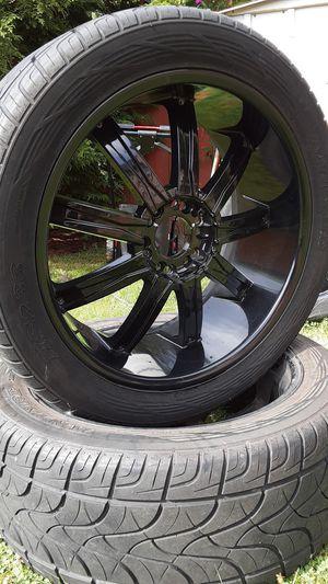 """22"""" rim's all black for Sale in Everett, WA"""