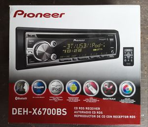 Pioneer CD RDS RECEIVER DEH-X6700BS for Sale in Dundee, OR