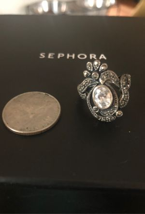 Spinel Rhodium oval Over Silver Ring 9 for Sale in Chicago, IL