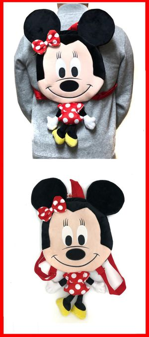 Brand NEW! Minnie Mouse Novelty Plush Backpack/Pouch For Everyday Use/Disneyland Trips/Parties/Birthday Gifts $17 for Sale in Carson, CA