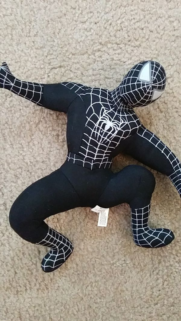™Spider-Man 3 black and gray stuffed toy LIKE NEW