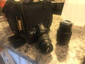 Nikon D3100 + 2 lenses + Batt/Charger + Bag for Sale in Atlanta, GA
