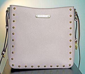 MICHAEL Michael Kors Jet Set Travel Saffiano Leather Bag Gold Studs for Sale in Arlington, VA