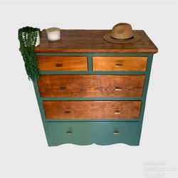Modern Rustic Green Chest Of Drawers for Sale in Wake Forest,  NC