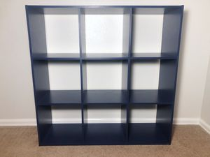Pottery Barn Style Blue 9 Cubby Book Shelf for Sale in Boulder, CO