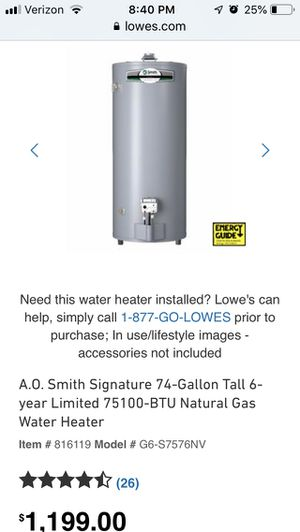 Water heater/ Gas natural for Sale in Laurel, MD