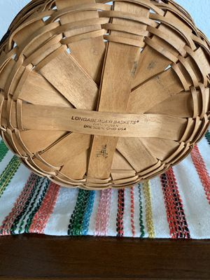 Longaberger 1992 Crisco Cookie Basket Collector Edition for Sale in Henderson, NV