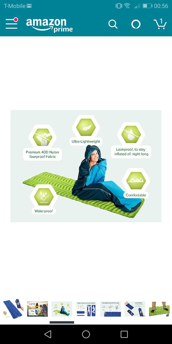 Camping mat inflatable sleeping pad- brand new