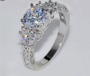 White Sapphire Wedding Ring 10KT White Gold Jewelry Sizes6/7/8/9 are available for Sale in March Air Reserve Base, CA