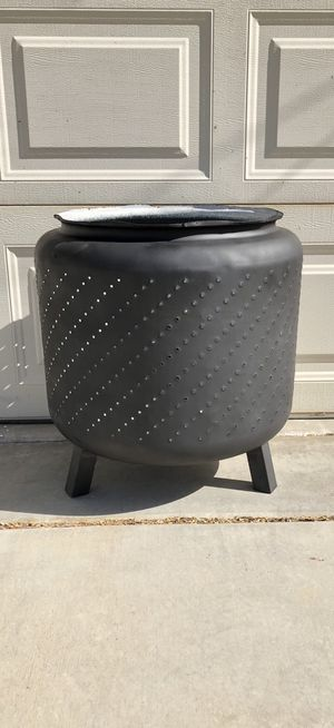 Fire Pit made from Washing Machine Tub with Legs for Sale in Riverside, CA