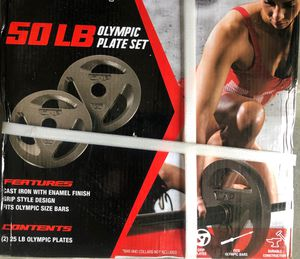 CAP Barbell 50 lb Olympic Grip Plate Weight Set for Sale in Lutz, FL