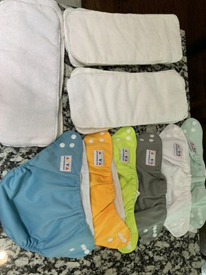 Cloth Diaper- Set of 6 Alva Baby and 11 inserts cloth diaper for Sale in Des Plaines, IL
