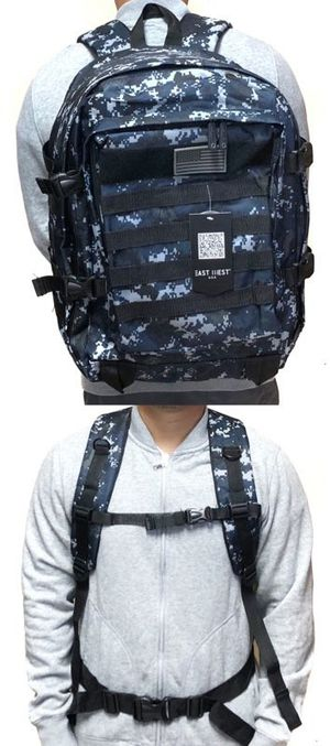 Brand NEW! Blue Digital Large Tactical Molle Backpack For Everyday Use/Work/Outdoors/Biking/Hiking/Hunting/Fishing/Camping/Sports/Gym $24 for Sale in West Carson, CA