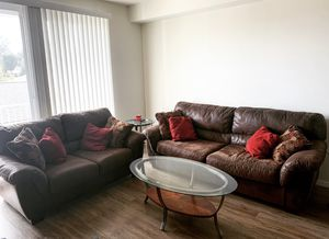 Ashley Microfiber Couch and Loveseat set for Sale in Tacoma, WA