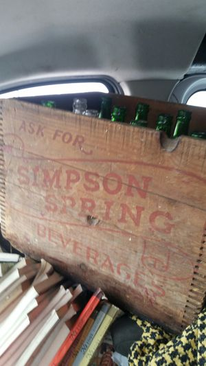 Simpson Springs soda crate and bottles for Sale in Cranston, RI