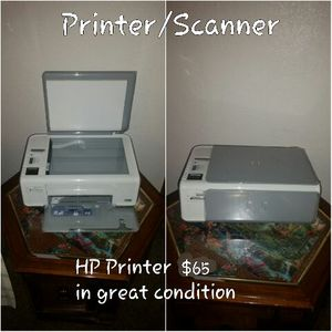 White and grey hp 3in1 printer for Sale in Acampo, CA