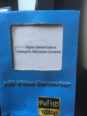 Digital optical coax to analog r/l rca audio converter for Sale in Los Angeles, CA