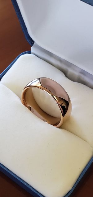 Mens Rose Gold Colored Tungsten Wedding Band, Ring Size 7, 8, 9, 10, 11, 12 & 13 for Sale in Portland, OR