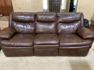 Electric reclining sofa- used for Sale in Fresno, CA