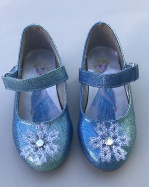 Elsa Frozen- dress up shoes size 8 for Sale in Honey Brook, PA