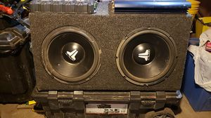Two J L AUDIO 12 inch ,W4 dual voice with two amps for Sale in Salt Lake City, UT