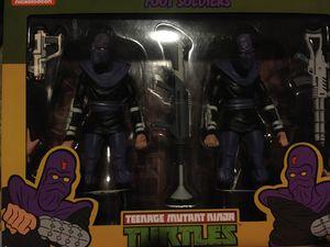 Neca TMNT Foot Soldier 2 pak Footsoldier pack Teenage Mutant Ninja Turtles action figures for Sale in Diamond Bar, CA