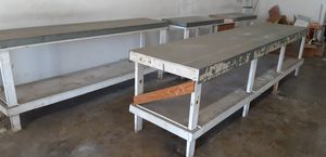 Work tables with galvanized surfaces for Sale in Orange, CA