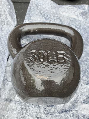 Brand new 30lb cast iron kettlebell for Sale in Seattle, WA