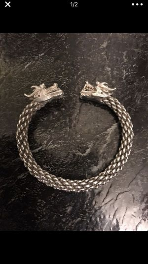 """UniSex"" Dragon Sterling Silver 925 Bracelet Very Good Condition...Thick Nd Has Weight To It!! for Sale in Alexandria, VA"