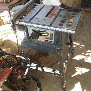 Ryobi 10 Inch Tablesaw for Sale in Wichita, KS