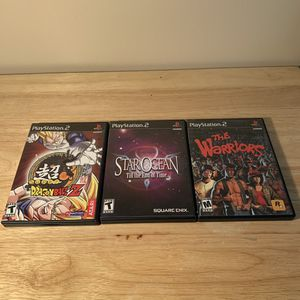 Super Dragonball Z, Star Ocean Til The End of Time, & The Warriors Playstation 2 (PS2) Bundle for Sale in Tempe, AZ