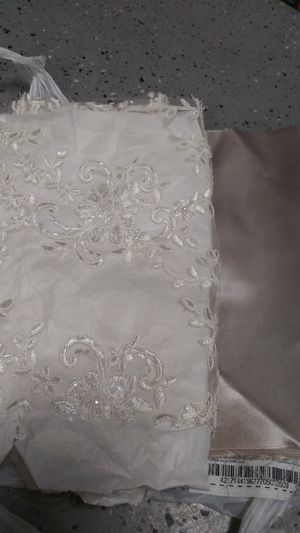 1 yard of bridal lace & satin fabric for Sale in Lakeland, FL