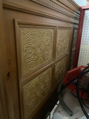 King bed frame, head board, footboard and 2 night stands for Sale in St. Petersburg, FL