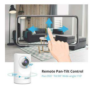 Indoor WiFi Camera 1080p FHD Home Wireless Security Camera 360 Viewing Indoor Baby pet Monitor for Sale in Garden Grove, CA