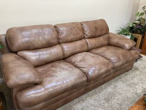 Flexsteel leather couch for Sale in West Linn, OR