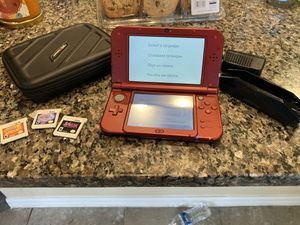 New Nintendo 3Ds with three games for Sale in Valrico, FL