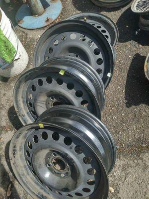 Wheels: 15*6 steel rims, 4*98 bolt pattern for Sale in Portland, OR