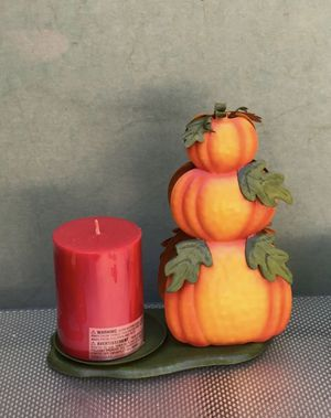 Fall decorative pumpkins candleholder by home interiors for Sale in Dallas, TX