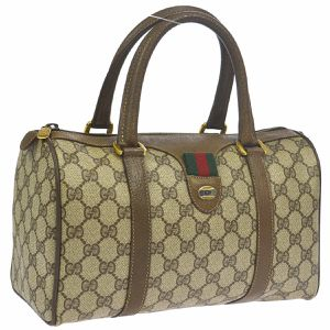 GUCCI GG Shelly Line Hand Bag Purse Brown PVC Leather Italy Authentic (Pre-owned) for Sale in Henderson, NV