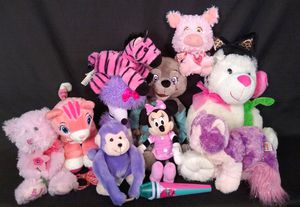Bunch of Girl's Plush Stuffed Animal Toys Teddy Bears Cats Minnie Mouse and More for Sale in Tacoma, WA
