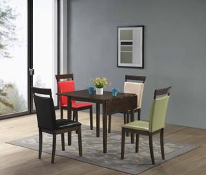 5pc kitchen table set available with red & green chairs only $299 for Sale in Richmond, VA