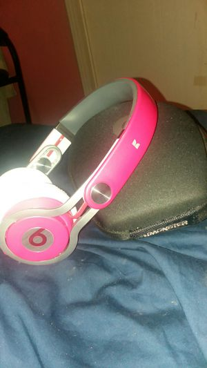 Pink Beats Mixr Headphones & Carrying Case for Sale in Riverview, FL