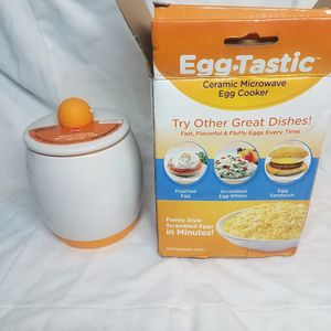Egg Tastic Ceramic Microwave Egg Cooker for Sale in Federal Way, WA
