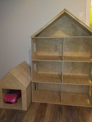 Custom made barbie house with 2 car garage for Sale in Boston, MA