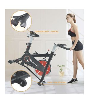 Indoor Cycling Bike-Belt Drive Indoor Exercise Bike,Stationary Cycle Bike for Home Cardio Gym Workout (Black) for Sale in Auburn, WA