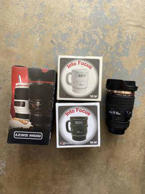 Canon Nikon Sony Camera lens coffee mugs cups for Sale in San Diego, CA