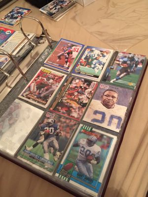Barry Sanders football cards $5.00. for sheet of 9 cards. for Sale in ROCHESTER, NY